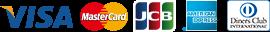 VISA/MasterCard/JCB/AMERICAN EXPRESS/DinersClub